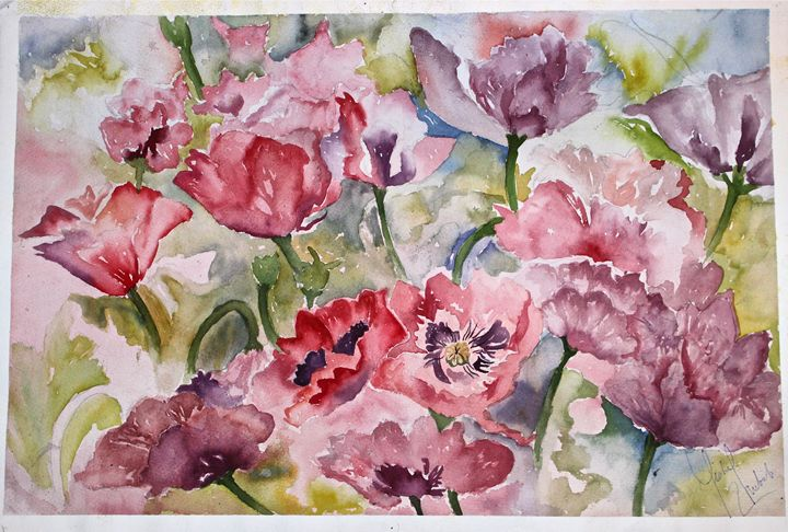 Floral Abstract - YK Paintings