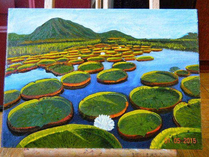 Tranquil lily pads - Madhuri Nag