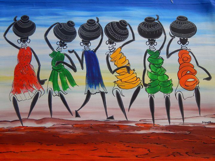 Women Collecting Water From Well - Richard Mubiru