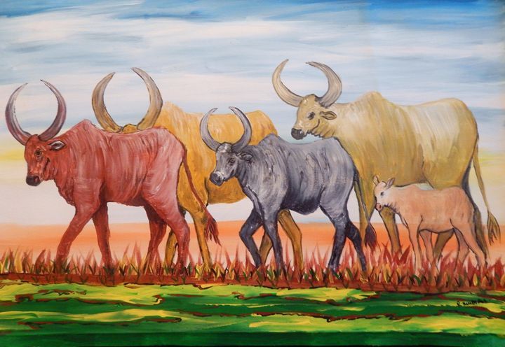 Grazing Cattle - Richard Mubiru