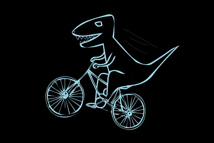 T-rex is cycling - Kuba Niezgoda