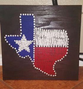 Texas Canvas Yarn Art