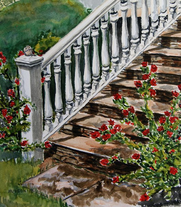 the Front Steps - Douglas Hudson Art