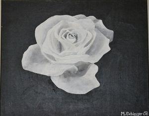 """""""White rose on black"""""""