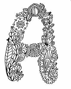 """Alphabet """"A"""" doodle art"""
