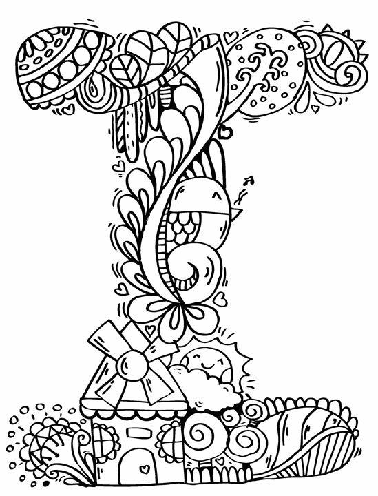 Alphabet I Doodle Art