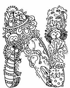 "Alphabet "" N "" doodle art"