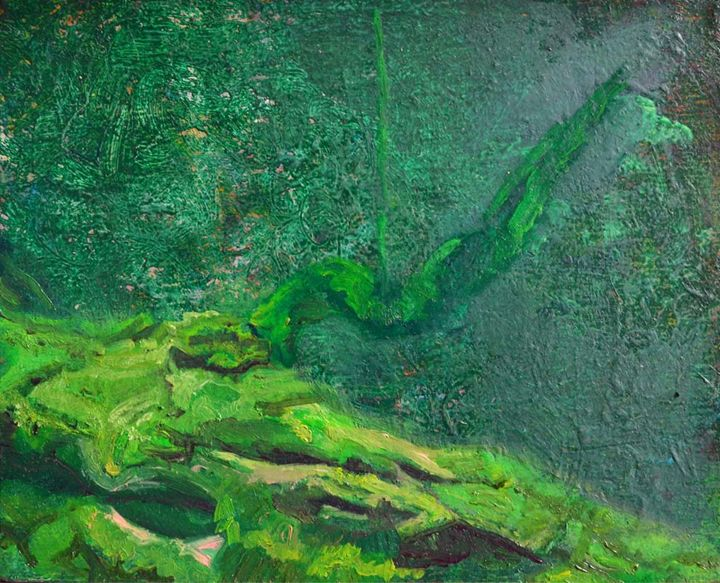 Bright green on opaque form - Eduardo del Valle