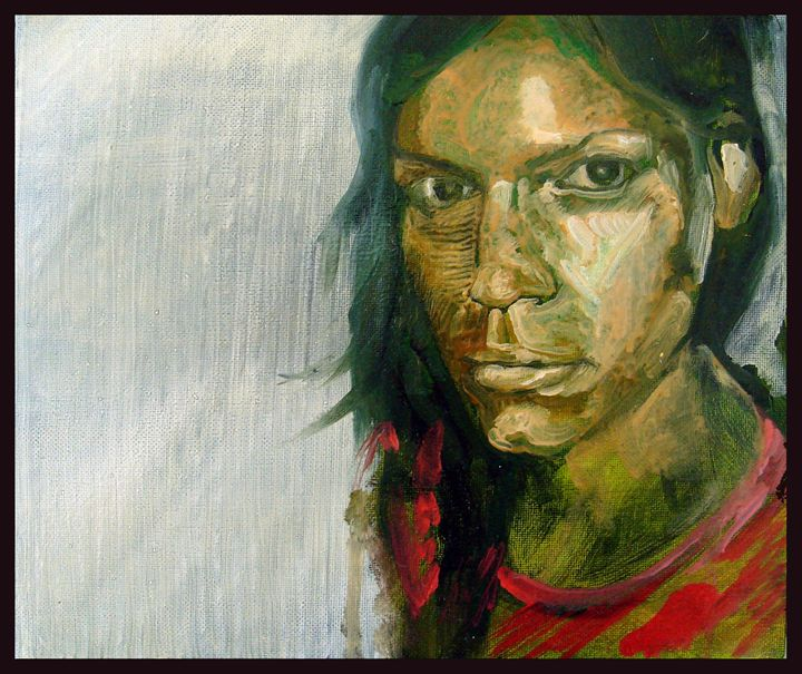 Portrait of a green - Eduardo del Valle