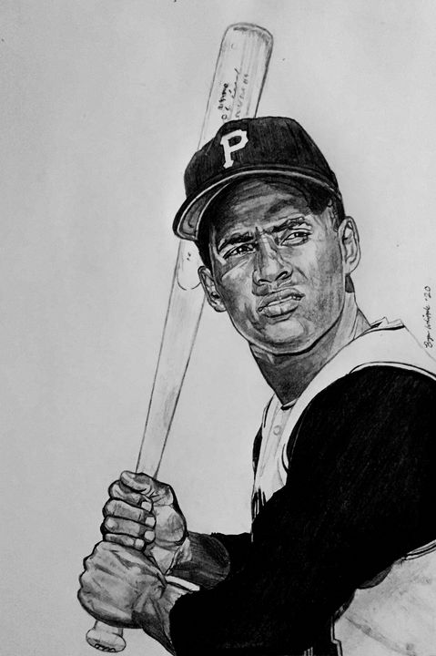 Roberto Clemente Pittsburgh Pirates - Bryan Whipple Portraits