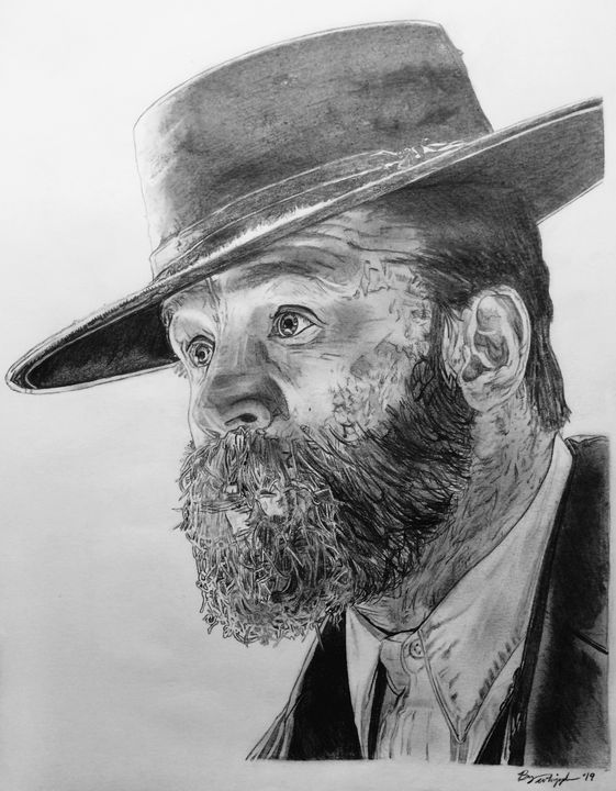 Tom Hardy Alfie Peaky Blinders Art Bryan Whipple Portraits Drawings Illustration Entertainment Television Dramatic Tv Shows Artpal