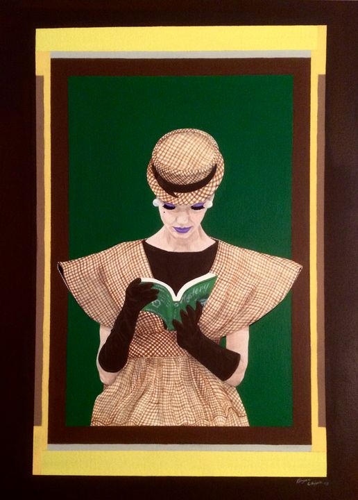 Mystery Woman 16x20in acrylic - Bryan Whipple Portraits