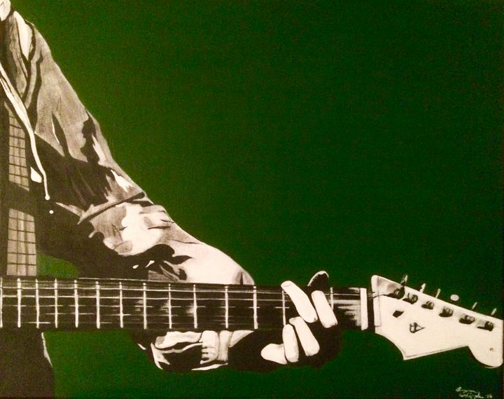 Slowhand-Eric Clapton 16x20 in - Bryan Whipple Portraits