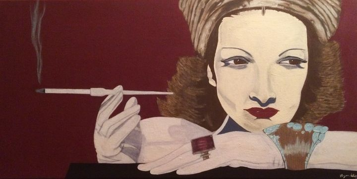 Silent Starlet 12x24 in acrylic - Bryan Whipple Portraits