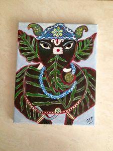 The leaf Ganesha