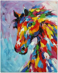 Horse in Burst of Color