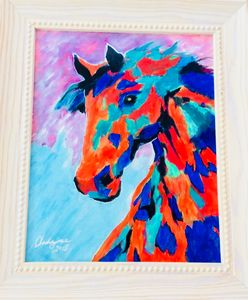 Horse in a Burst of Color!