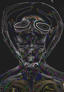 Alien Head Neon