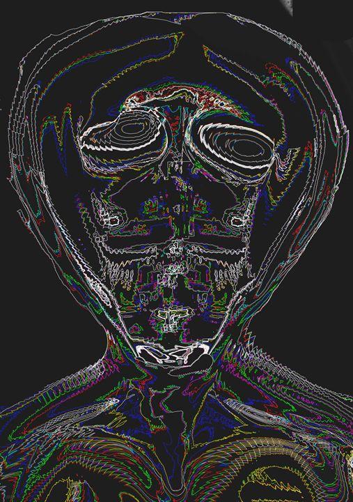 Alien Head Neon - Cinder Force 7