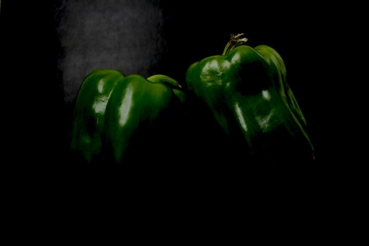 Two Green Peppers - Alan Harman Photography