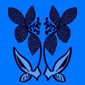 Secret blue garden