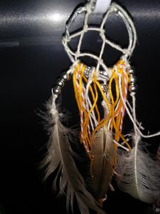 Orange and silver Dream catcher - Cassie's Handmade Dreams!
