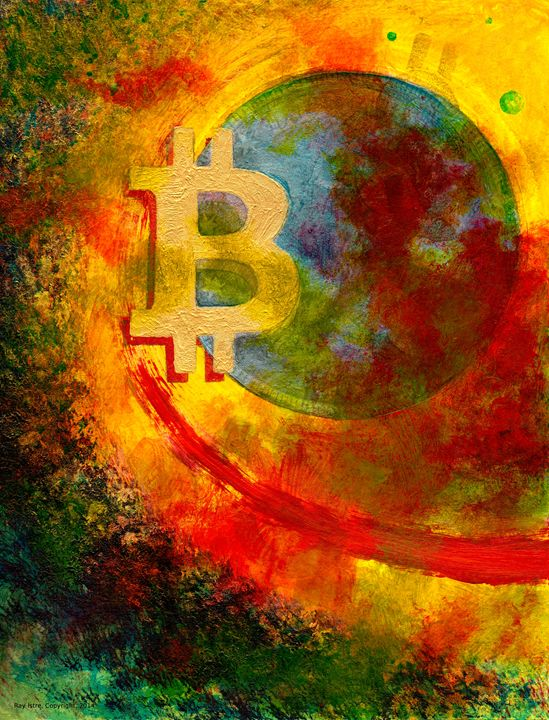 Bitcoin Galaxy - Art of Ray Istre