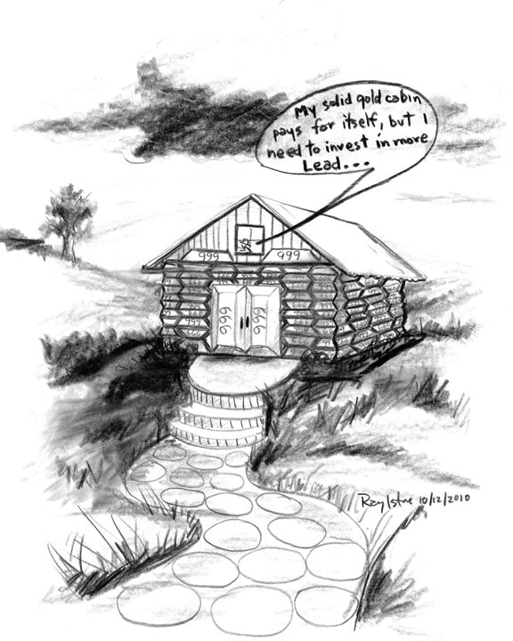 My Solid Gold Cabin - Art of Ray Istre