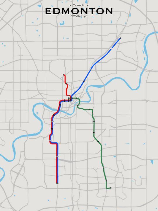 Edmonton Transit Map - CPTVDesign