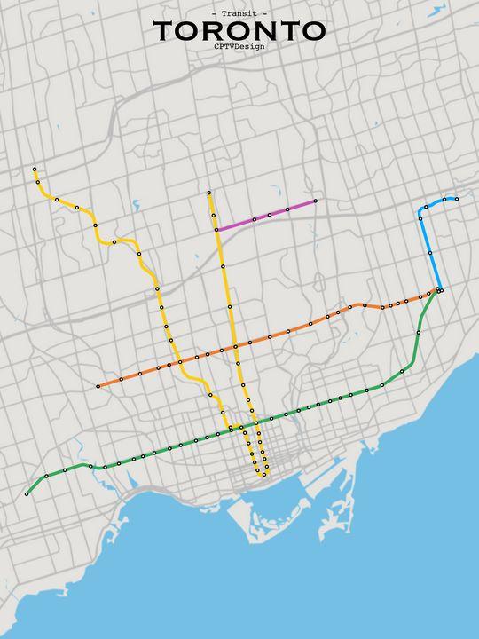 Toronto Transit Map - CPTVDesign