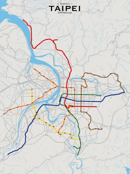 Taipei Transit Map - CPTVDesign