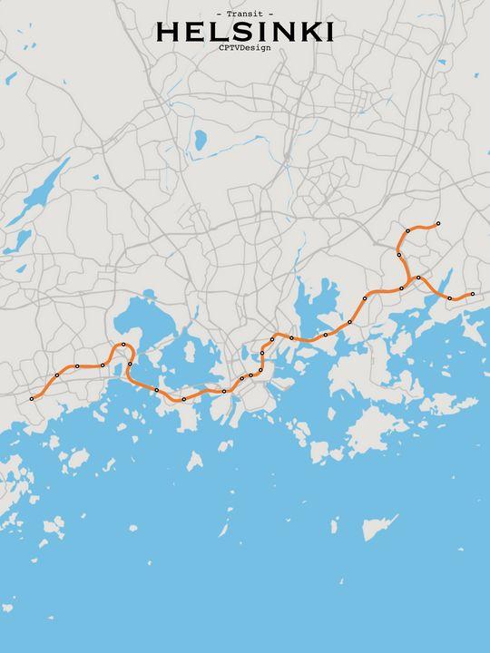 Helsinki Transit Map - CPTVDesign