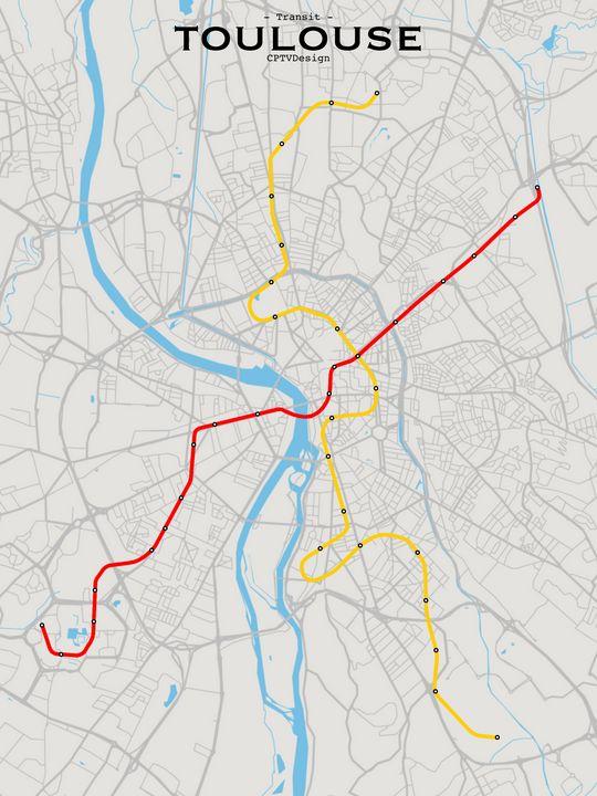 Toulouse Transit Map - CPTVDesign