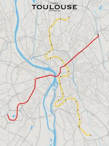 Toulouse Transit Map