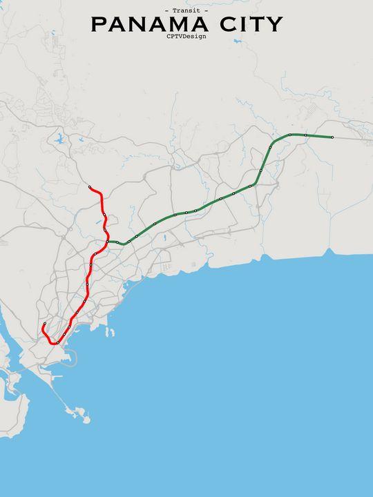 Panama City Transit Map - CPTVDesign