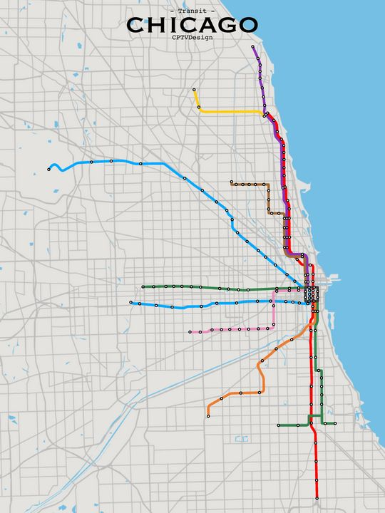 Chicago Transit Map - CPTVDesign