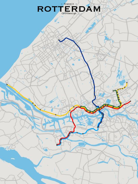 Rotterdam Transit Map - CPTVDesign
