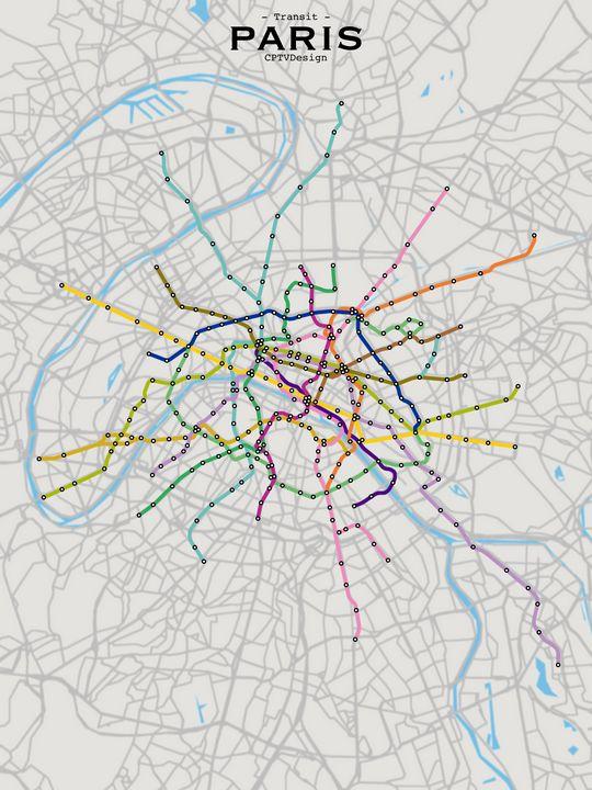 Paris Transit Map - CPTVDesign