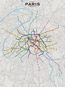 Paris Transit Map