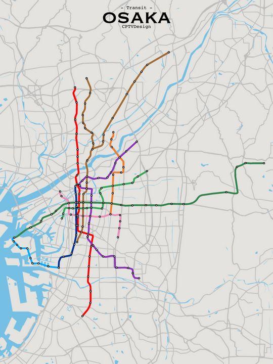 Osaka Transit Map - CPTVDesign