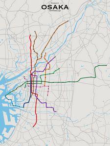 Osaka Transit Map