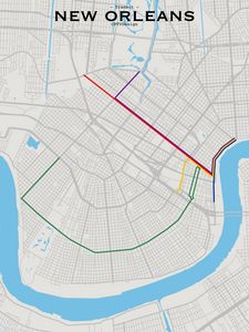 New Orleans Transit Map