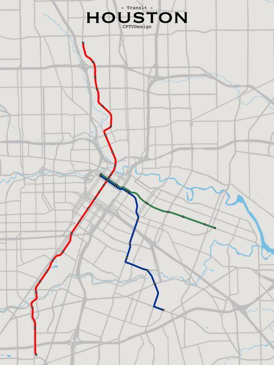Houston Transit Map - CPTVDesign