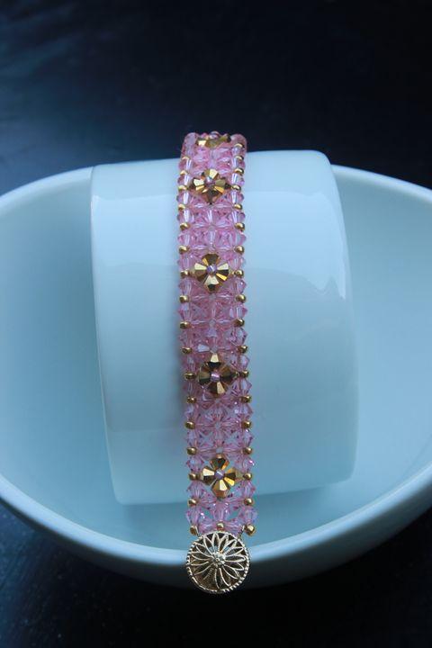 Pink Crystal Tennis Bracelet - Alysse's Pieces