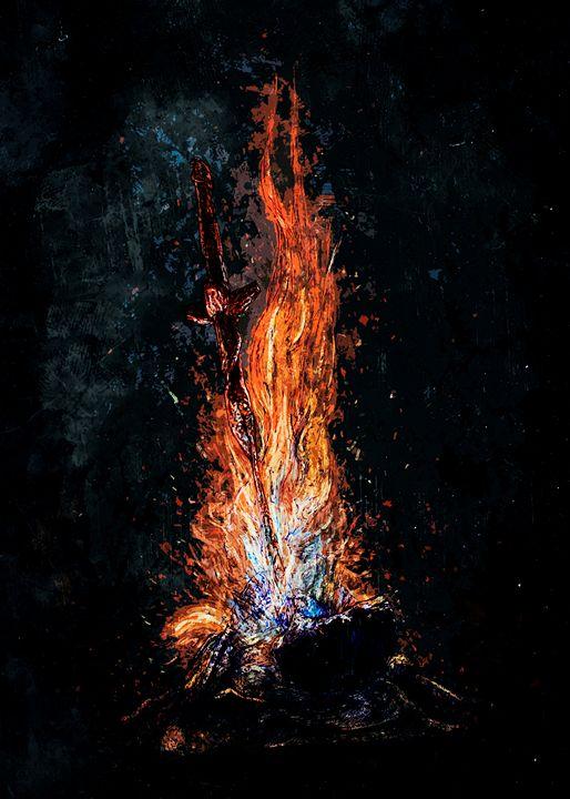 """Dark Souls """"Bonfire"""" - SucculentBurger"""