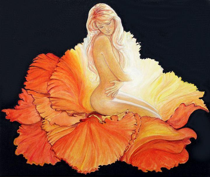 flower woman - Avril Art Painter