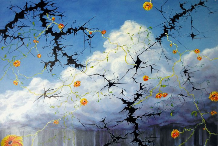 clouds away - Avril Art Painter