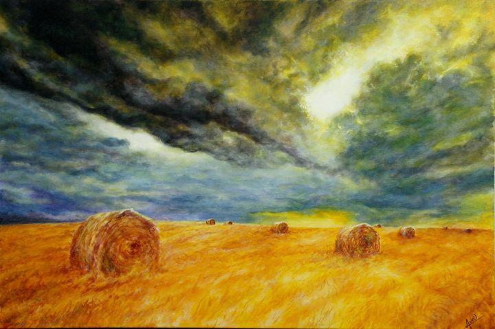 stacks of wheat - Avril Art Painter