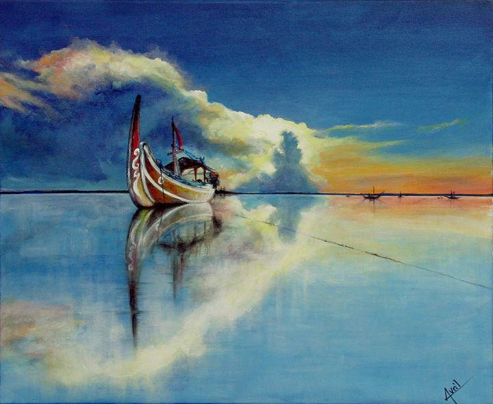 boat fisherman - Avril Art Painter