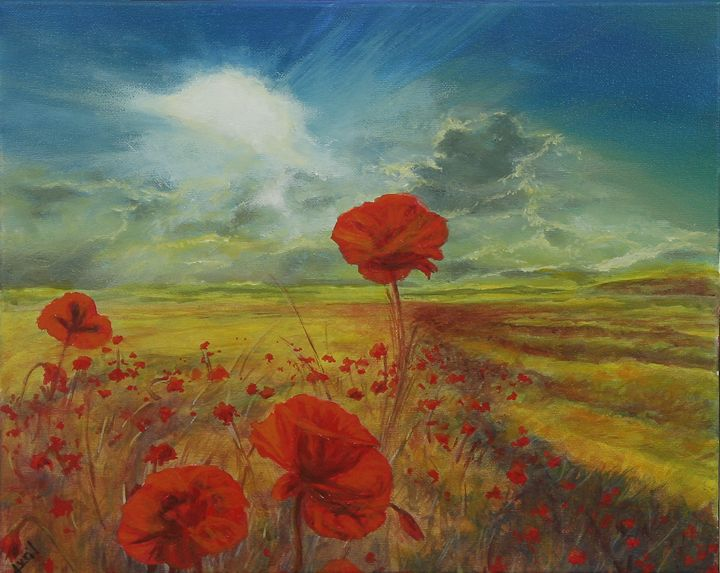 the poppies - Avril Art Painter